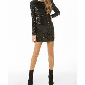 F21 Black sequin dress